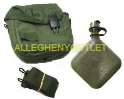 $ CDN23.17 • Buy 2 Qt OD Collapsible Canteen W/ 2 Qt OD Canteen Cover MINT US Military Issue