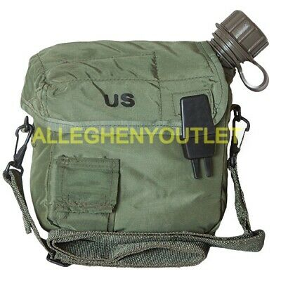 $ CDN22.28 • Buy US Military 2 Quart OD Canteen Cover W Sling Strap For 2 QT Canteen Bladder MINT