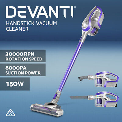 AU169.90 • Buy Devanti Handheld Vacuum Cleaner Cordless Stick Handstick Bagless Recharge Vac