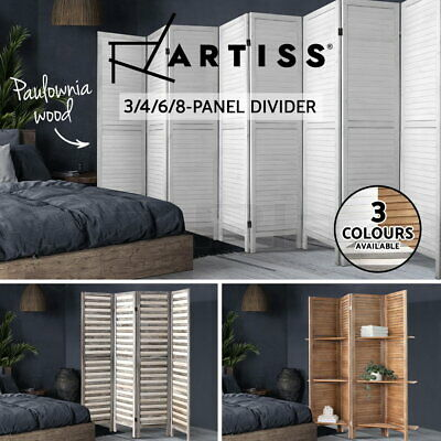 AU85.95 • Buy Artiss 3/4/6/8 Panel Room Divider Screen Privacy Dividers Timber Wood Fold Stand