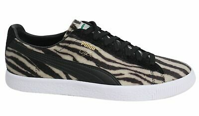 Puma Clyde Suits Oatmeal Black Lace Up Mens Faux Fur Trainers 363426 01 B43B • 36.99£