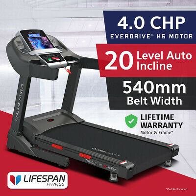 AU959 • Buy Lifespan Fitness TORQUE III Extra Wide Belt 540mm Treadmill Home Gym Exercise