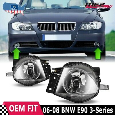 $26.49 • Buy For BMW 3 Series E90 06-08 Factory Bumper Replacement Fit Fog Lights Clear Lens