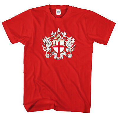 £11.95 • Buy St Georges Day Coat Of Arms T-Shirt City Of London England Flag Men Women L263