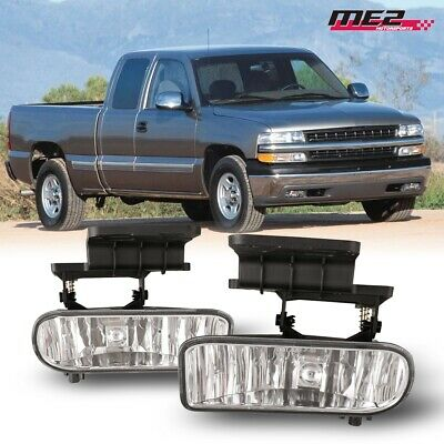 $25.59 • Buy For 1999-2002 Chevy Silverado PAIR OE Factory Fit Fog Light Bumper Clear Lens