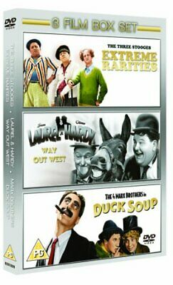 £3.87 • Buy The Three Stooges: Extreme Rarities/Way Out West/Duck Soup [DVD] - DVD  QYVG The