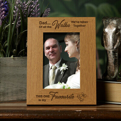 Father Of The Bride Gift Favourite Walk Wooden Photo Frame FW116 • 10.98£