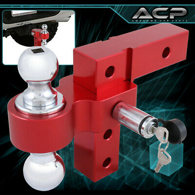 $76.99 • Buy 2  Red Trailer Receiver Truck RV 6  Drop Adjustable Aluminum Hitch Tow Towing