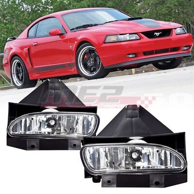 $26.71 • Buy For 1999-2004 Ford Mustang PAIR OE Factory Fit Fog Light Bumper Clear Lens