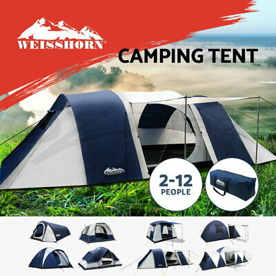 AU209.90 • Buy Weisshorn Family Camping Tent Dome Hiking 2-12 Person Waterproof Tents