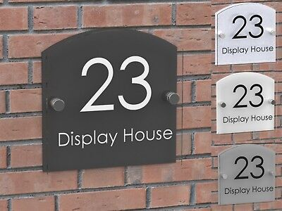 Displaypro Acrylic House Number Plaque Clear Perspex Door Sign Plate Plaques • 7.95£