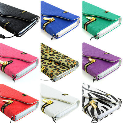 $5.99 • Buy For Apple IPhone 6S/Plus/6 Zipper Wallet PU Leather Case+Tempered Glass Screen