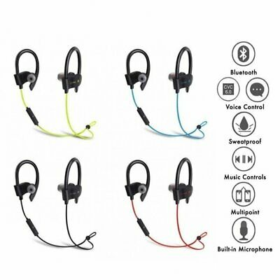 View Details New Wireless Bluetooth Ear Buds Headphones Gym Workout Sweatproof Smartphone/MP3 • 10.99£