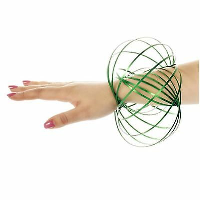 £3.19 • Buy 3D GREEN Magic Flow Ring Toy Infinity Arm Kinetic Spring Slinky Juggle DanceX1