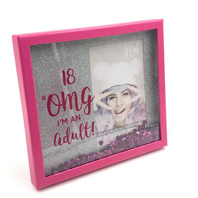 £13.09 • Buy 18th Birthday Photo Frame Glitter And Sequins 4  X 6  Gift Boxed SP1781