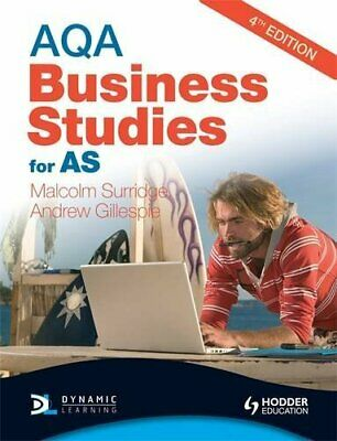 AQA Business Studies For AS (Surridge & Gilles... By Gillespie, Andrew Paperback • 5.99£