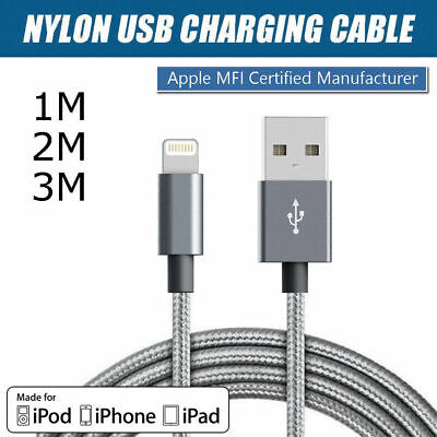 AU4.04 • Buy 1M/2M/3M Data Sync 2A Fast Charger USB Cable IPhone 7+ 6 6S 5 SE XS MAX XR