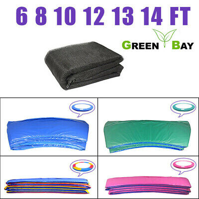 £36.95 • Buy Trampoline Replacement Safety Net Enclosure Spring Cover Pad 6 8 10 12 13 14 FT
