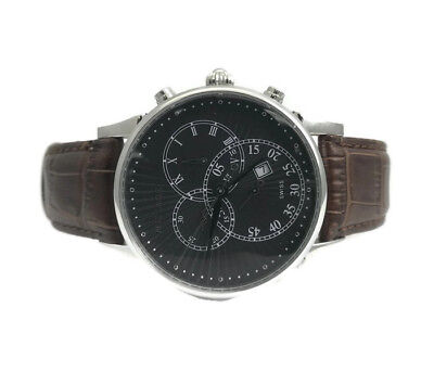 $795 • Buy Millage Swiss Made Stainless Steel Men's Watch, Brown Leather Strap, Hampton