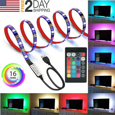 $7.49 • Buy LED Strip Light USB Powered RGB Multi Color TV Backlight Lighting With Remote 5V