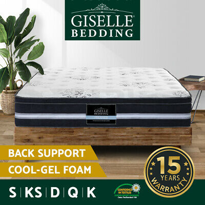 AU269 • Buy Giselle Bed Mattress Queen Double King Cool Gel Memory Foam Spring Memory Foam