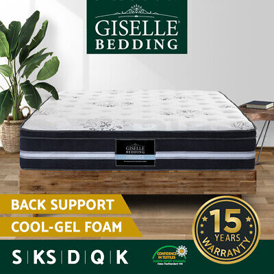 AU149.90 • Buy Giselle Mattress Queen Double King Single Cool Gel Memory Foam Bed Premium 34cm