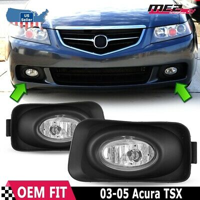 $33.95 • Buy For Acura TSX 04-05 Factory Replacement Fit Fog Lights + Wiring Kit Clear Lens