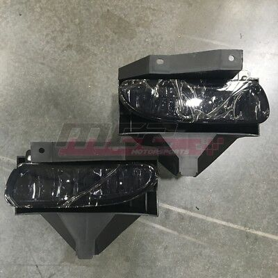 $25.12 • Buy For Ford Mustang 1999-2004 Factory Bumper Replacement Fit Fog Lights Smoke Lens