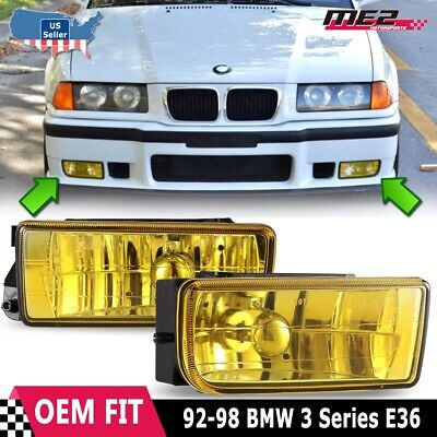 $27.52 • Buy For BMW 3 Series E36 M3 92-98 Factory Replacement Fit Fog Lights Yellow Lens