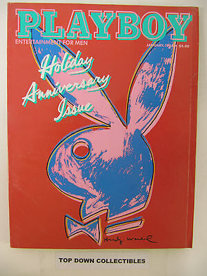 $9.77 • Buy  Playboy Magazine   January 1986   Andy Warhol Cover Holiday Anniversary Issue