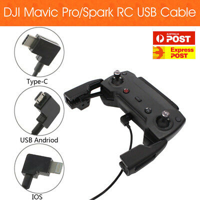 AU7.20 • Buy DJI Mavic Pro/Spark Remote Controller USB IPhone IPad / Android / Type-C Cable