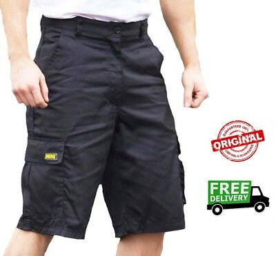 £14.95 • Buy Mens MIG Cargo Work Shorts Size 30 To 42 COMBAT SHORTS In BLACK Or NAVY MIG-500
