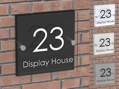 Displaypro House Number Plaque Clear Acrylic Door Sign Name Business Plaques • 7.95£