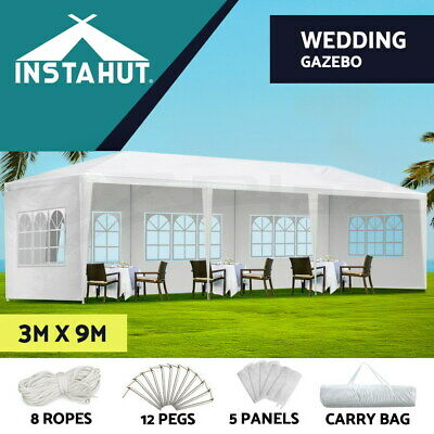 AU145.90 • Buy Instahut Gazebo 3x9 Outdoor Marquee Side Wall Gazebos Tent Canopy Camping White