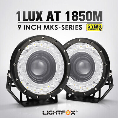 AU299.95 • Buy Pair 9 Inch Cree Led Driving Lights Spot Round  Black Spotlights 4X4 Offroad Suv