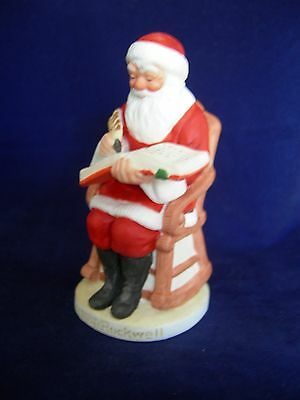 $ CDN16.80 • Buy Vintage Norman Rockwell Checking Good Deeds Santa Figurine Gorham 1982