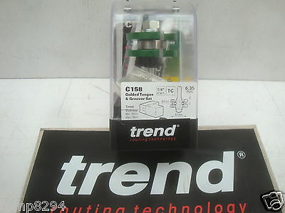 £34.96 • Buy Trend C158 Tct 41mm Tongue & Groover Set Router Cutter Bit 1/4  Shank