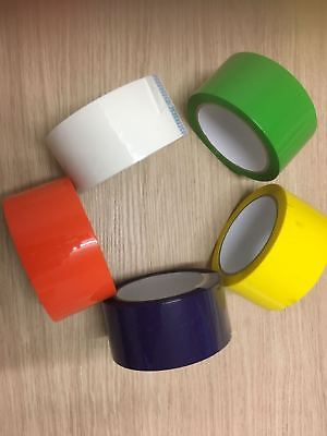 £15.95 • Buy Parcel Packing Tape Assorted Color Packing Packaging Select Color & Roll Qty