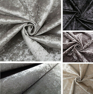 Premium CRUSHED VELVET FABRIC Craft Upholstery Stretch Material 150cm Extra Wide • 5.99£