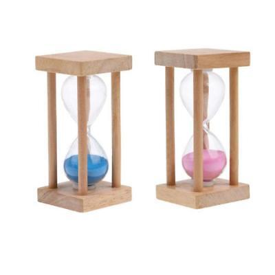 AU19.75 • Buy Pack 2 5 Minute Wooden Frame Sand Traditional Hour Glass Egg Kitchen Timer
