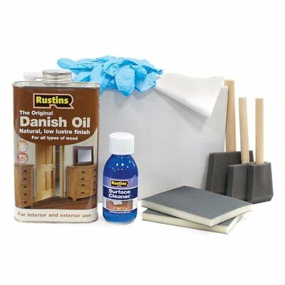 Rustins Solid Wood Worktop Maintenance And Care Kit Includes Rustins Danish Oil • 25.99£