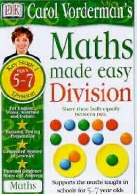 £7.49 • Buy Maths Made Easy Topic Book: Division KS1 (Maths... By Vorderman, Carol Paperback