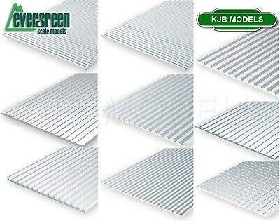 £9.99 • Buy Evergreen Scale Models Styrene Textured Sheets Plastic Cladding Roof Clapboard