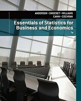 £49.55 • Buy Essentials Of Statistics For Business And Economics By David Anderson