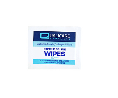 £0.99 • Buy Qualicare Sterile Saline Skin Safe Wound Cleaning First Aid Wet Wipes