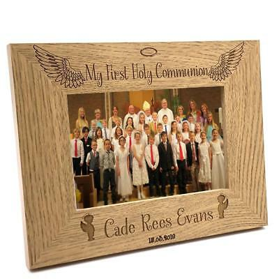 Boys First Holy Communion Personalised Photo Frame Gift FW209 • 11.98£