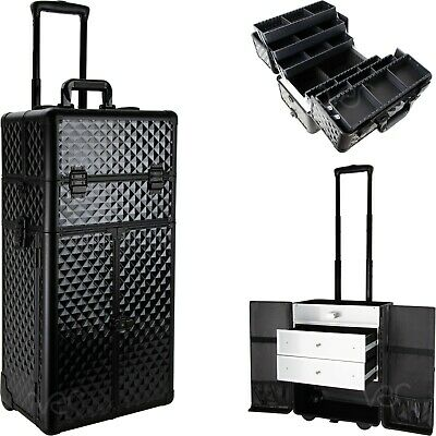 $219.99 • Buy Professional Rolling Makeup Case,6 Trays,2 Drawers, Lock & Mirror - VT006