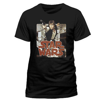 Star Wars Han Solo Blaster Pose T Shirt OFFICIAL Millennium Falcon New SMLXLXXL • 8.25£