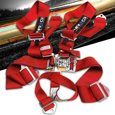 $ CDN154.39 • Buy NRG SBH-5PCRD 5-Point Latch Link Red SFI Approved 16.1 Racing Seat Belt Harness
