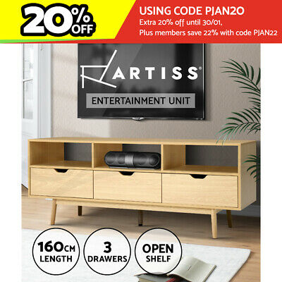 AU169.95 • Buy Artiss TV Cabinet Entertainment Unit Stand Storage Drawers Wooden Scandinavian